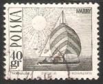 Sellos del Mundo : Oceania : Polynesia : Amethyst yacht on Masurian Lake