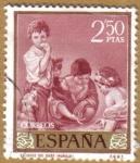 Sellos de Europa - España -  MURILLO - El juego del dado