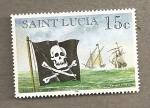 Sellos del Mundo : America : Santa_Lucía : Barcos piratas