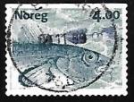Sellos de Europa - Noruega -  Salmon