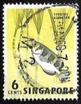 Sellos del Mundo : Asia : Singapur : Toxotes jaculatrix