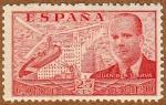 Sellos del Mundo : Europa : España : AUTOGIRO SOBRE MADRID-JUAN DE LA CIERVA