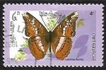 Sellos de Asia - Laos -  Mariposa