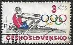 Sellos de Europa - Checoslovaquia -  Juegos olimpicos - remo