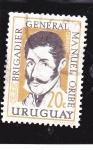 Sellos de America - Uruguay -  Brigadier General Manuel Uribe
