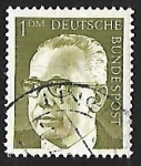 Sellos de Europa - Alemania -  Dr. h.c. Gustav Heinemann