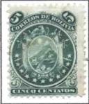 Sellos del Mundo : America : Bolivia : Escudo con 11 estrellas