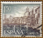 Sellos del Mundo : Europa : España : Vista de Gerona
