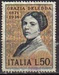Sellos de Europa - Italia -  ITALIA 1971 Scott 1049 Sello Personajes Novelista Grazia Deledda Michel 1346 YV1083