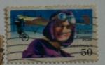 Sellos de America - Estados Unidos -  Pioneras de la Aviacion - Harriet Quimby
