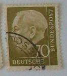 Sellos de Europa - Alemania -   Presidente Dr. Thedore Heuss.
