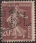Sellos del Mundo : Europa : Francia :  Sembradora 1906  20 cents