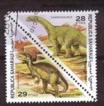 Sellos del Mundo : Europa : España : Republica Saharaui- Dinosaurios