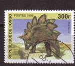Sellos de Africa - República del Congo -  serie- Dinosaurios