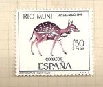 Sellos de Europa - España -  Rio Muni-Día del Sello 1966