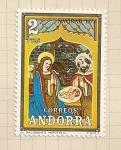 Sellos del Mundo : Europa : Andorra : Navidad 1973