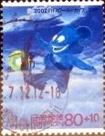 Sellos de Asia - Japón -  Scott#B52 intercambio 1,10 usd 80+10 y. 2001