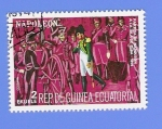 Sellos de Africa - Guinea Ecuatorial -  PARTIDA  DE  NAPOLEON  A  LA  ISLA  DE  ELBA  1814