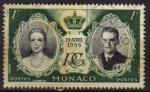 Sellos del Mundo : Europa : Mónaco : MONACO 1956 Sello 19 Abril 1956 Boda de Grace Kelly y el Principe Rainiero III
