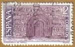 Sellos de Europa - España -  Monasterio de Ripoll - Portada Romanica