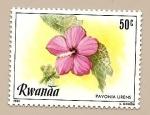 Sellos de Africa - Rwanda -  Flores - Pavonia