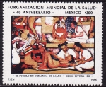 Sellos del Mundo : America : México : El Pueblo en demanda de salud-DIEGO RIVERA