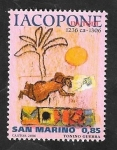 Sellos de Europa - San Marino -  2071 - Frere Iacapone da Todi, poeta