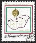 Sellos de Europa - Hungría -  mapa
