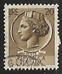 Sellos de Europa - Italia -  Coin of Syracuse