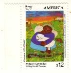 Sellos del Mundo : America : Uruguay : Mitos y leyendas