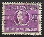 Sellos de Europa - Italia -  Authorized Delivery