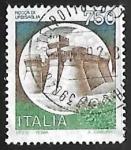 Sellos de Europa - Italia -  Castillo - Urbisaglia