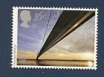 Sellos del Mundo : Europa : Reino_Unido : Obras de Ingenieria - EUROPA - Puente Colgante Humber - 4º mas largo del mundo