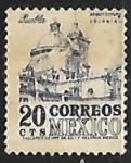 Sellos del Mundo : America : México : Catedral de Puebla