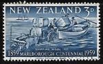Sellos de Oceania - Nueva Zelanda -  Barco