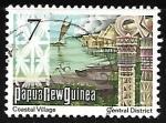 Sellos del Mundo : Oceania : Papúa_Nueva_Guinea : Coastal Village