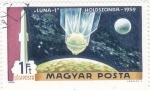 Sellos de Europa - Hungría -  AERONAUTICA-LUNA-1