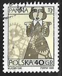 Sellos del Mundo : Europa : Polonia : Signo del zodiaco - virgo