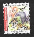 Sellos de Asia - Malasia -  Fauna animal, diversos animales