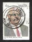 Sellos del Mundo : Europa : Malta : Sir Luigi Preziosi (ophthalmologist)