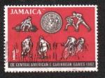 Sellos del Mundo : America : Jamaica : Juegos Centroamericanos y del Caribe