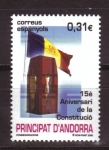 Sellos de Europa - Andorra -  15 ANIVERSARIO CONSTITUCIÓN