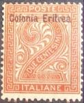 Sellos del Mundo : Africa : Eritrea : DUE CENTESIMI. Eritrea. 1893