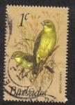 Sellos del Mundo : America : Barbados : Pinzón amarillo del pastizal (Sicalis luteola)