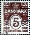 Sellos de Europa - Dinamarca -  Scott#89 intercambio, 0,25 usd, 5 cents. 1921