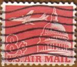 Sellos del Mundo : America : Estados_Unidos : Jet Airliner over Capitol