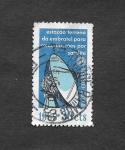 Sellos de America - Brasil -  1114 - Estación Terrestres de Comunicaciones para Satélites