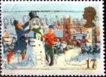 Sellos de Europa - Reino Unido -  Scott#1340 intercambio, 0,25 usd, 17 p. 1990