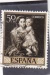 Sellos de Europa - España -  VIRGEN DEL ROSARIO -Murillo (32)