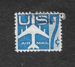 Sellos de America - Estados Unidos -  C51 - Avión